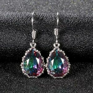 NEW 🎉 Stunning Mystic fire topaz earrings